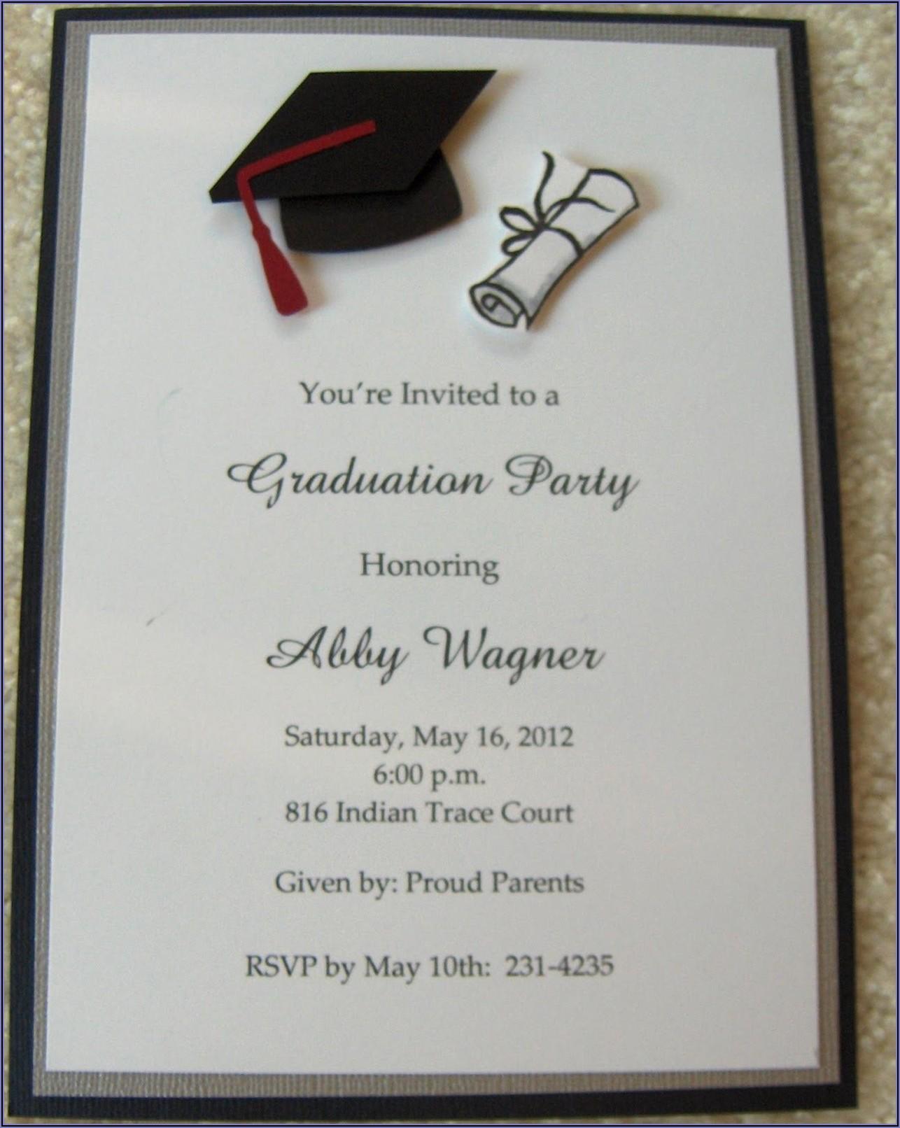 Elegant High School Graduation Invitations