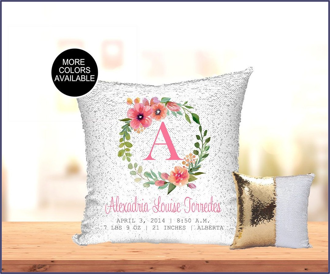 Etsy Birth Announcement Pillow