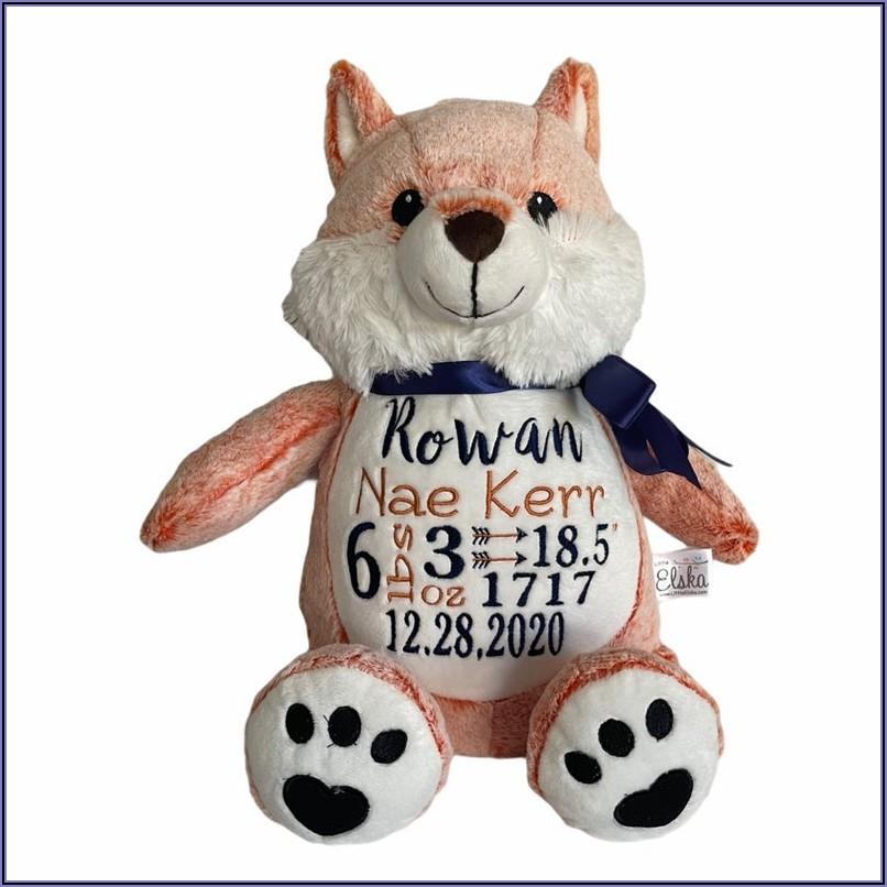 Etsy Birth Announcement Stuffed Animal