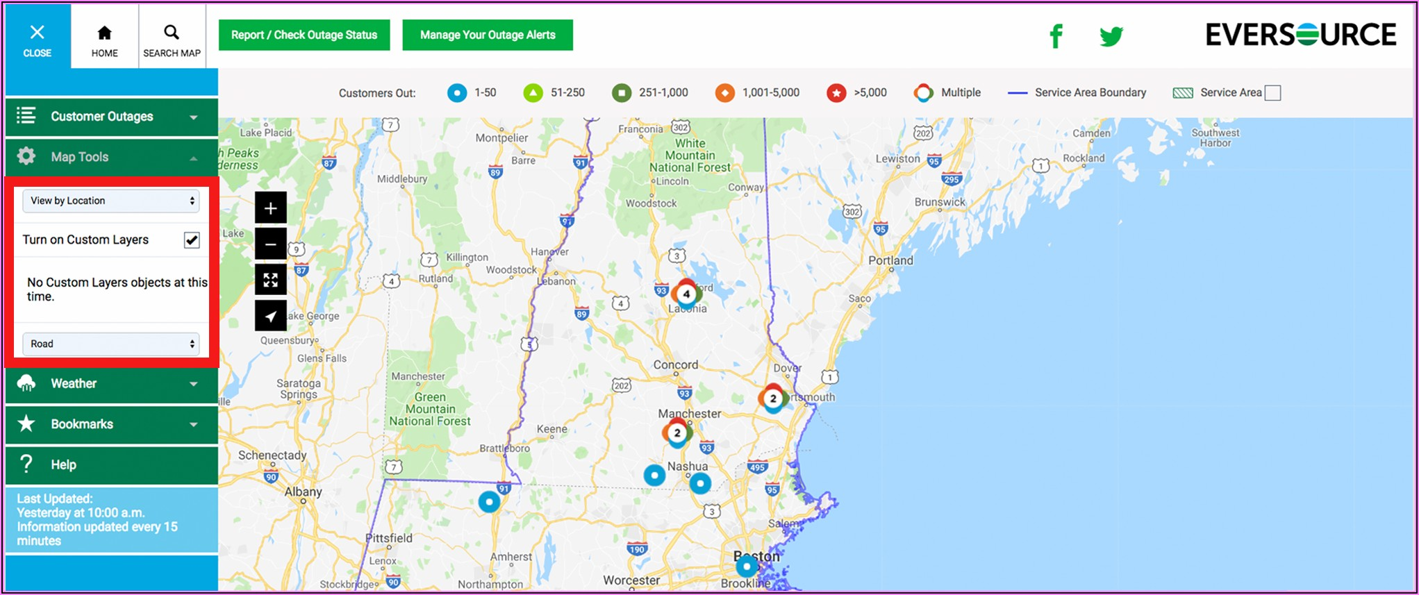 Eversource Outage Map Ma