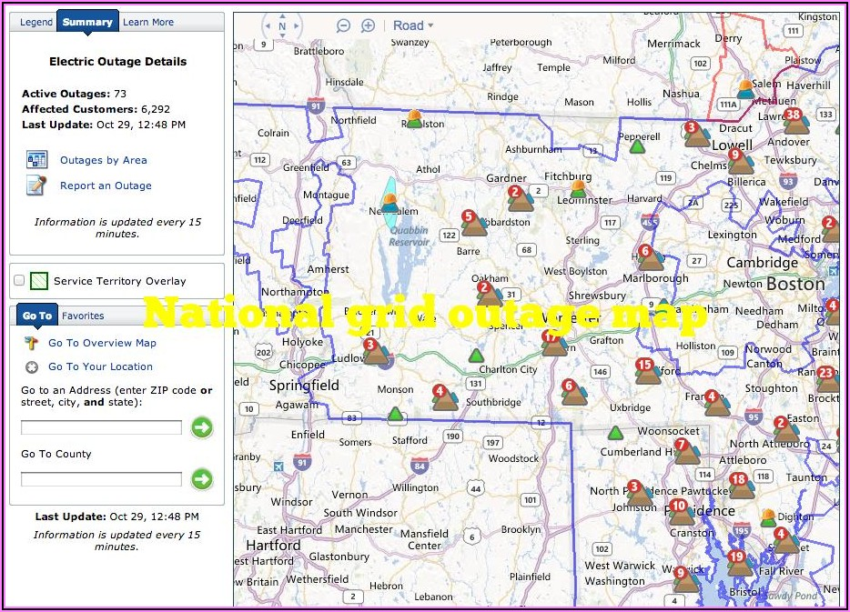 Eversource Outage Map Western Mass