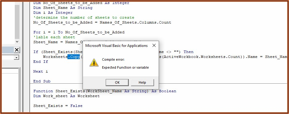 Excel Vba Check If Sheet Exists By Name
