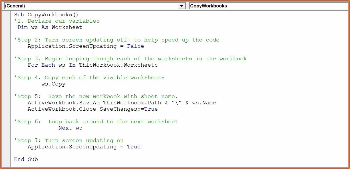 Excel Vba Save Worksheet As Separate File