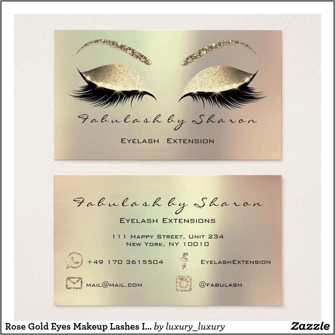 Eyelash Business Cards Uk