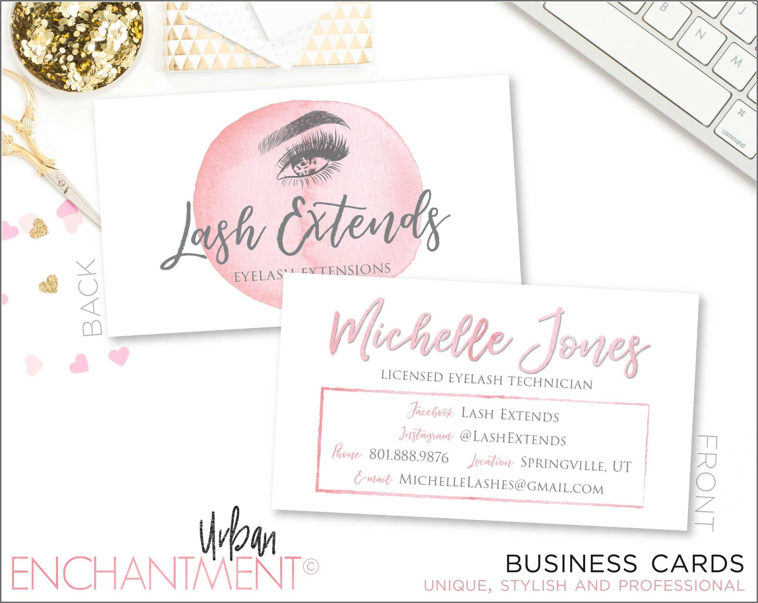 Eyelash Technician Business Cards
