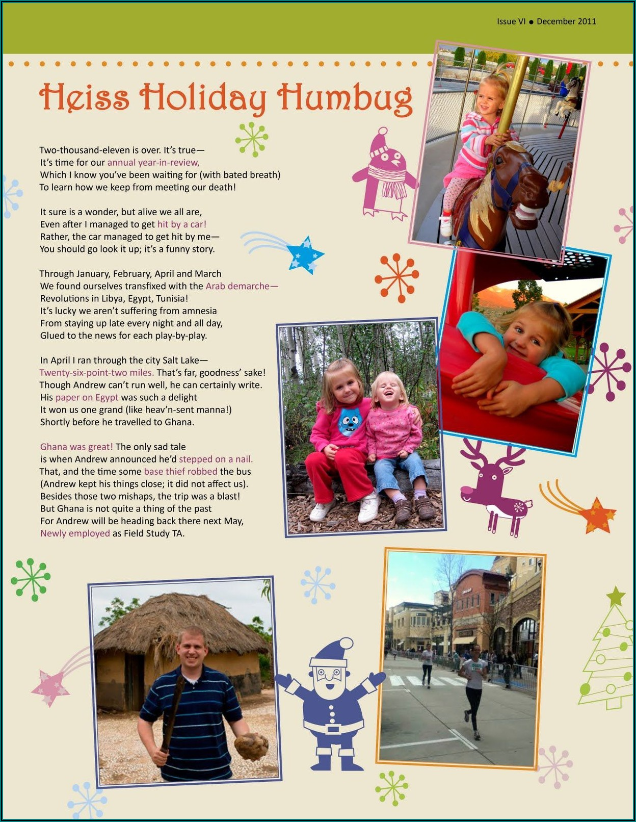 Family Holiday Newsletter Templates Free