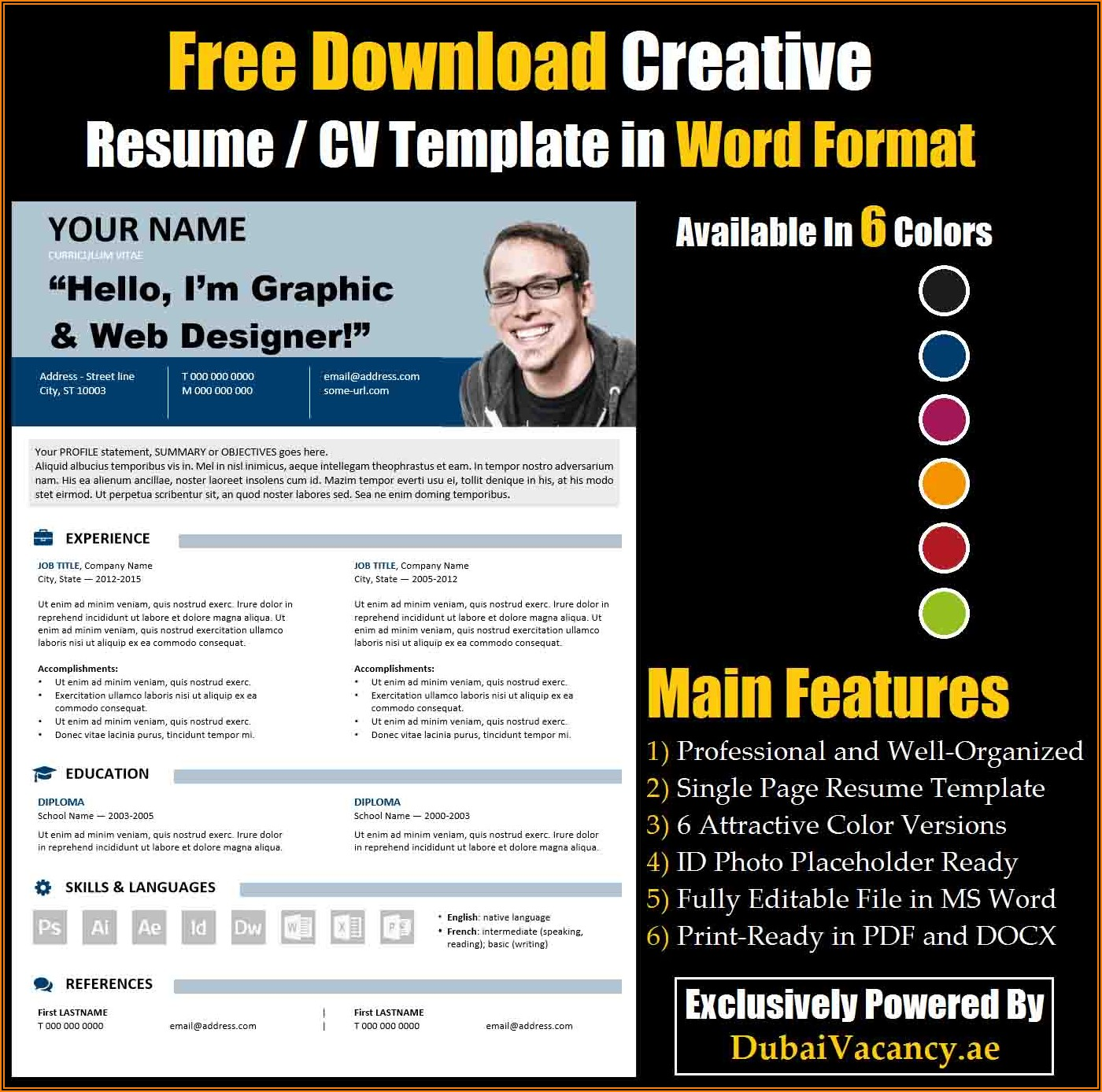 Free Cv Format In Ms Word Download
