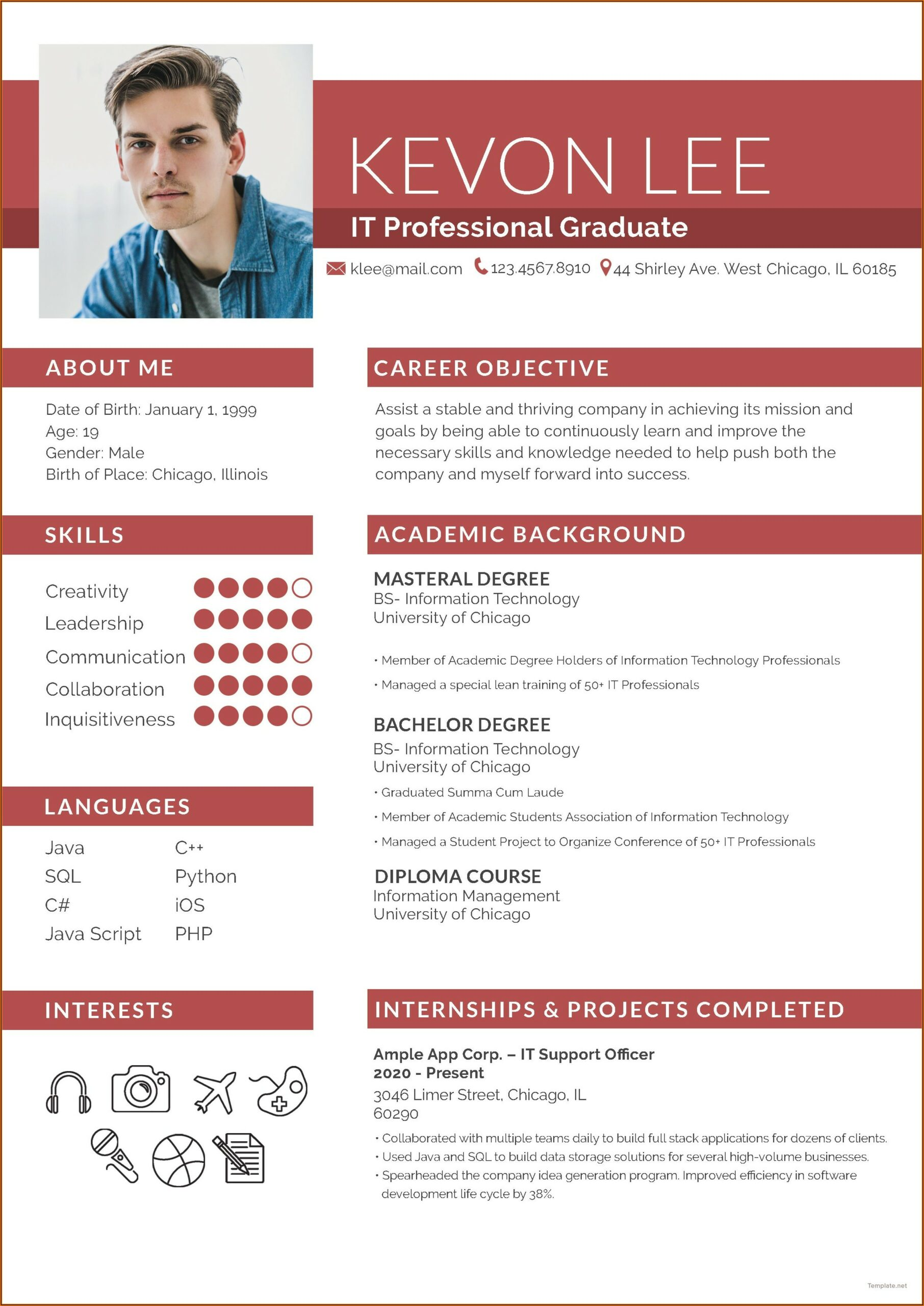 Free Cv Template For Apple Pages