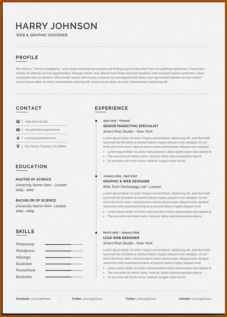 Free Cv Template Word Download 2020