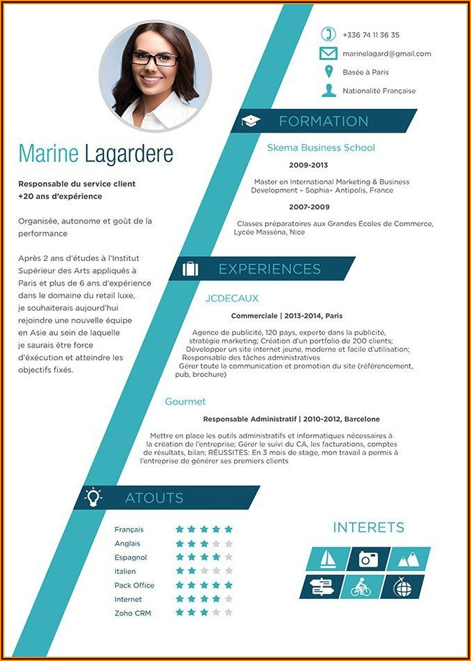 Free Cv Template Word Format