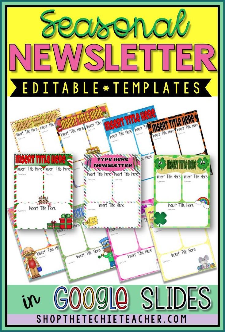 Free Digital Newsletter Templates For Teachers
