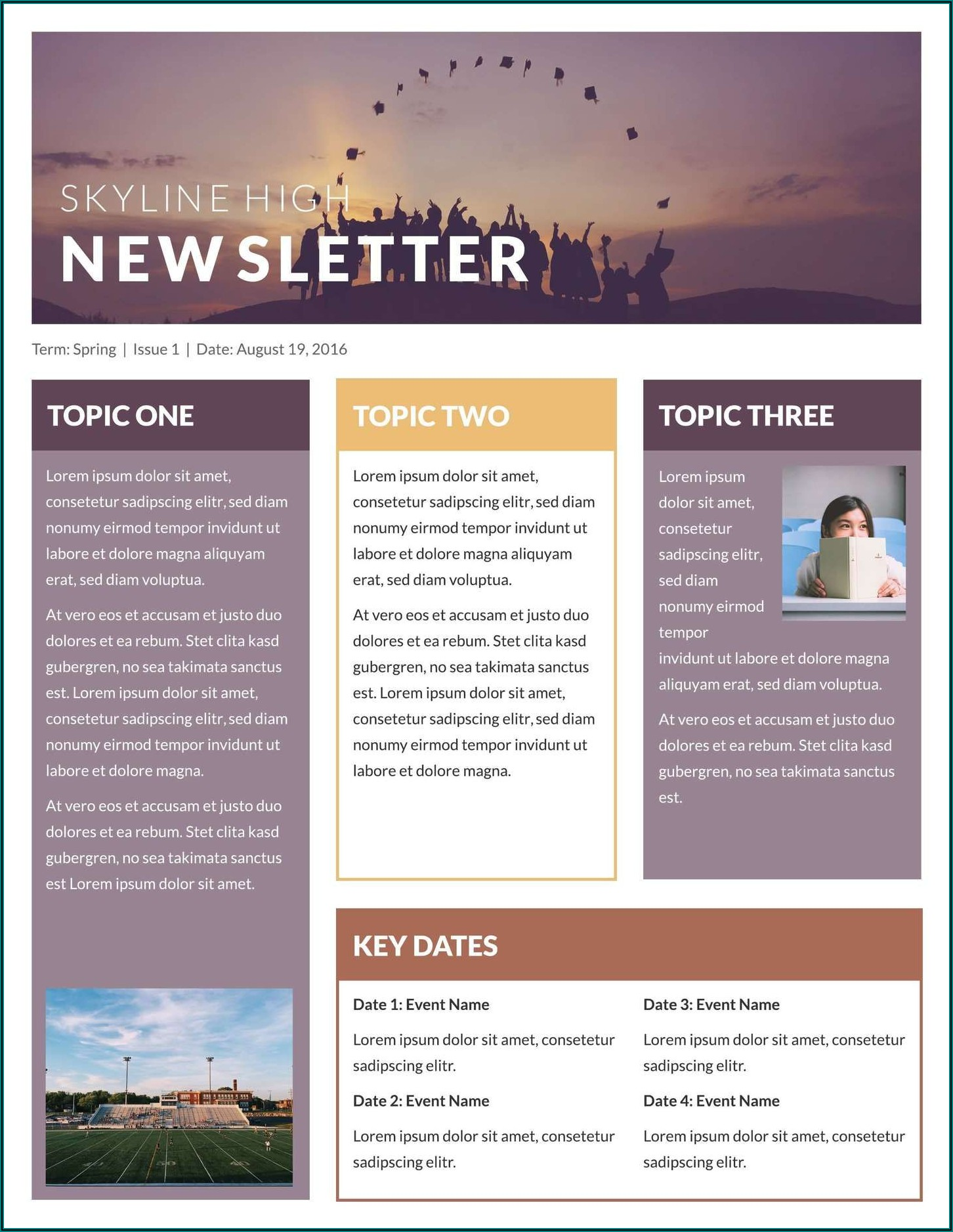 Free Editable Company Newsletter Templates