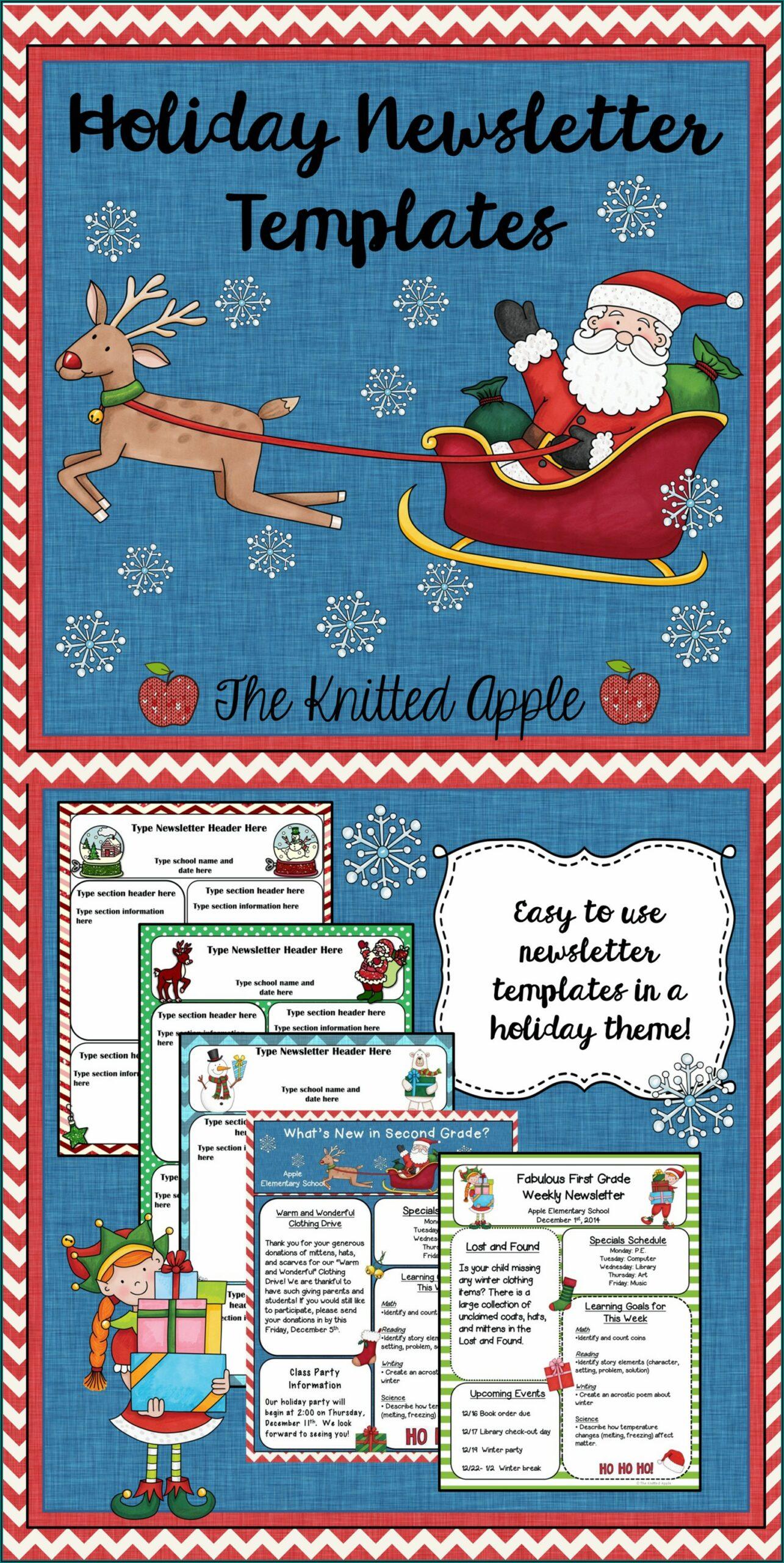 Free Editable December Newsletter Template