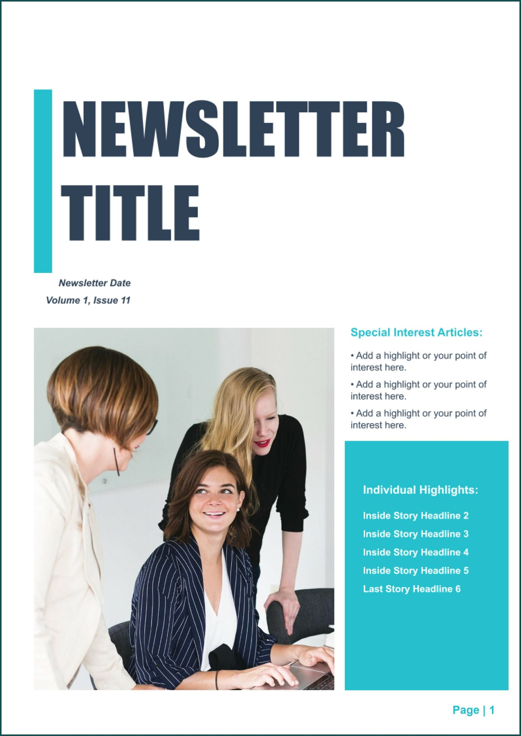 Free Editable Newsletter Templates For Powerpoint