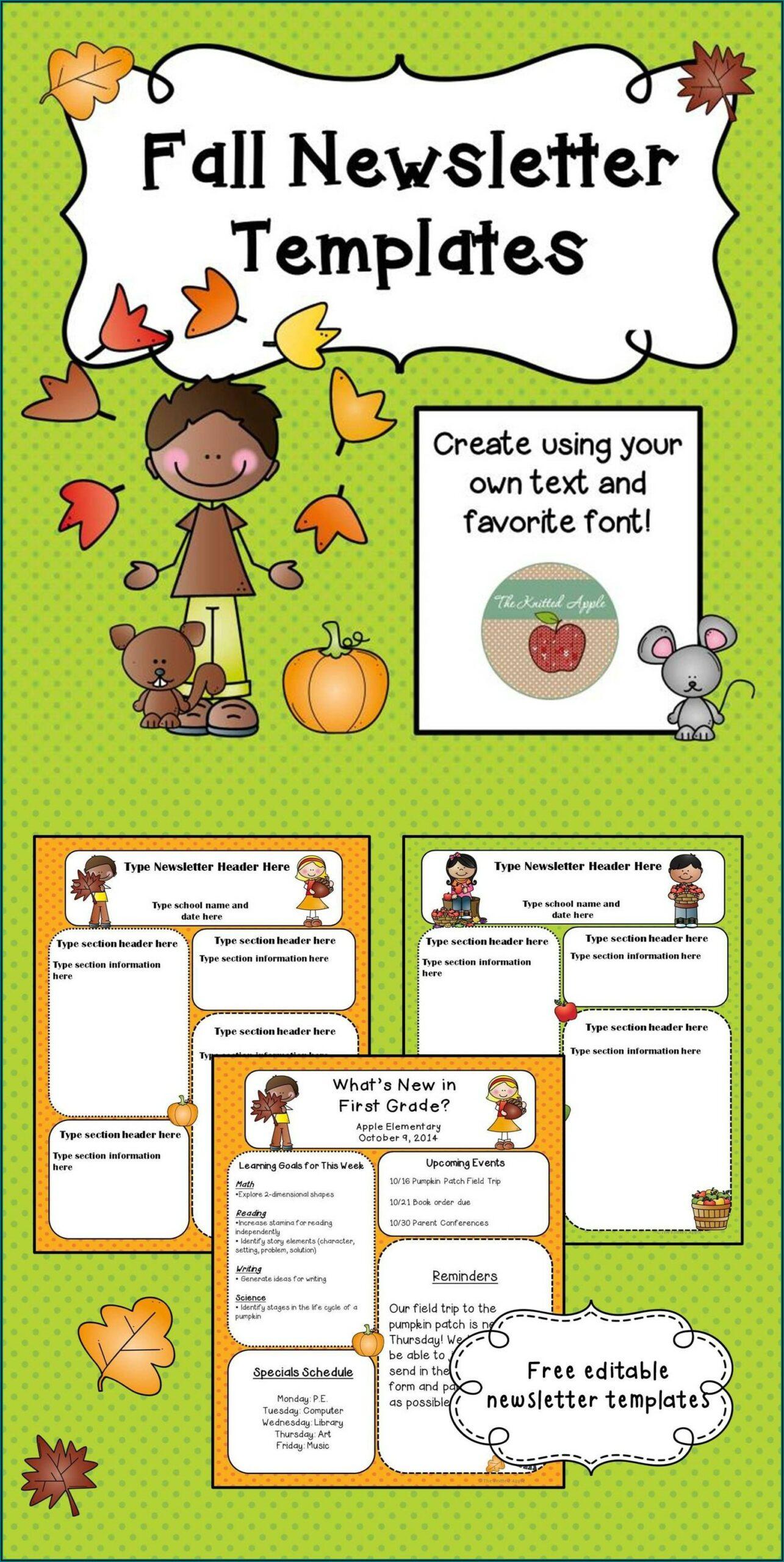 Free Editable October Newsletter Template