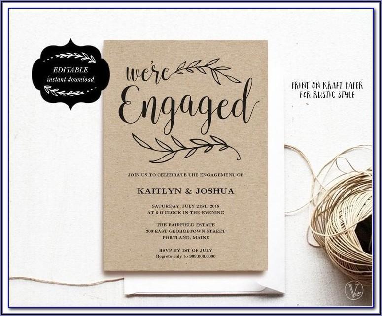 Free Engagement Announcement Templates