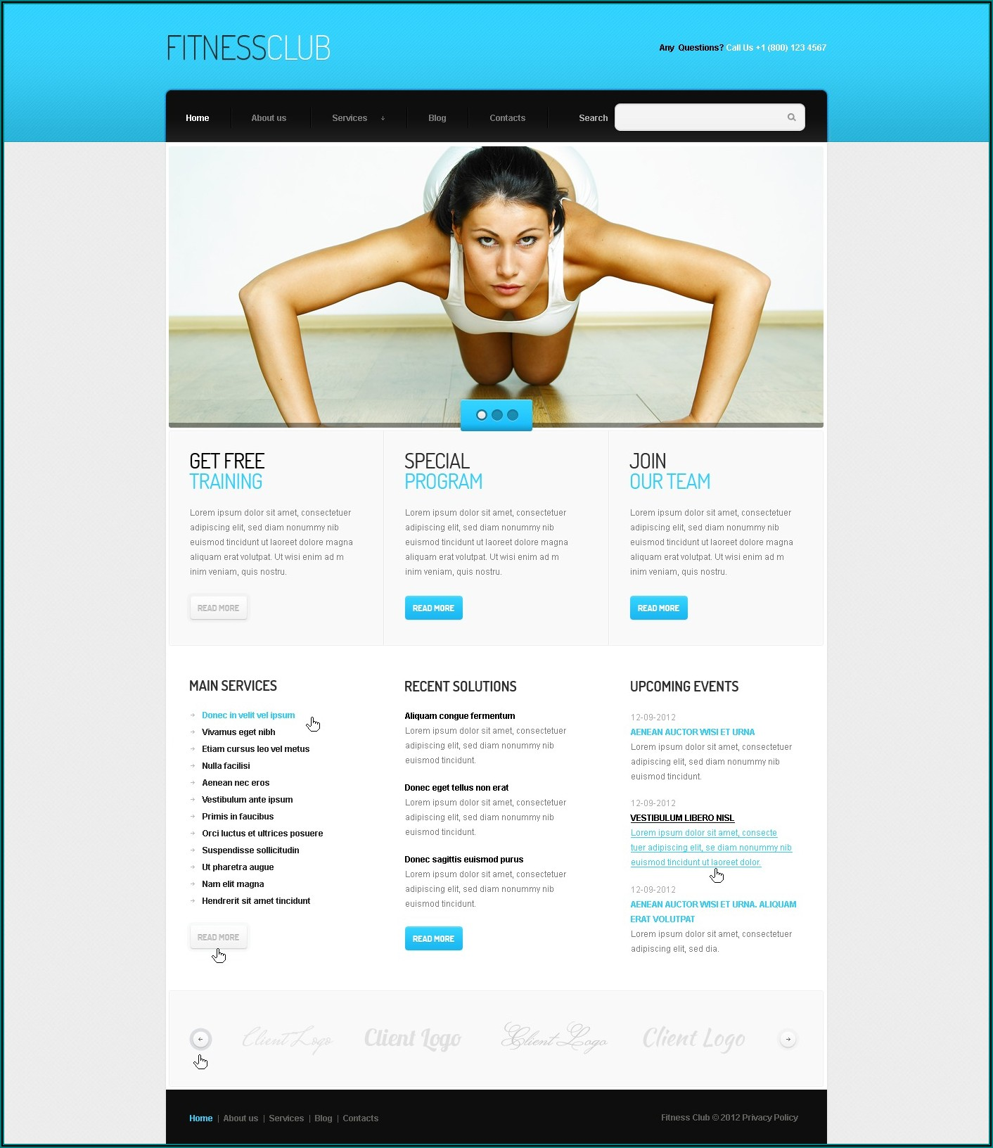 Free Health And Fitness Newsletter Templates