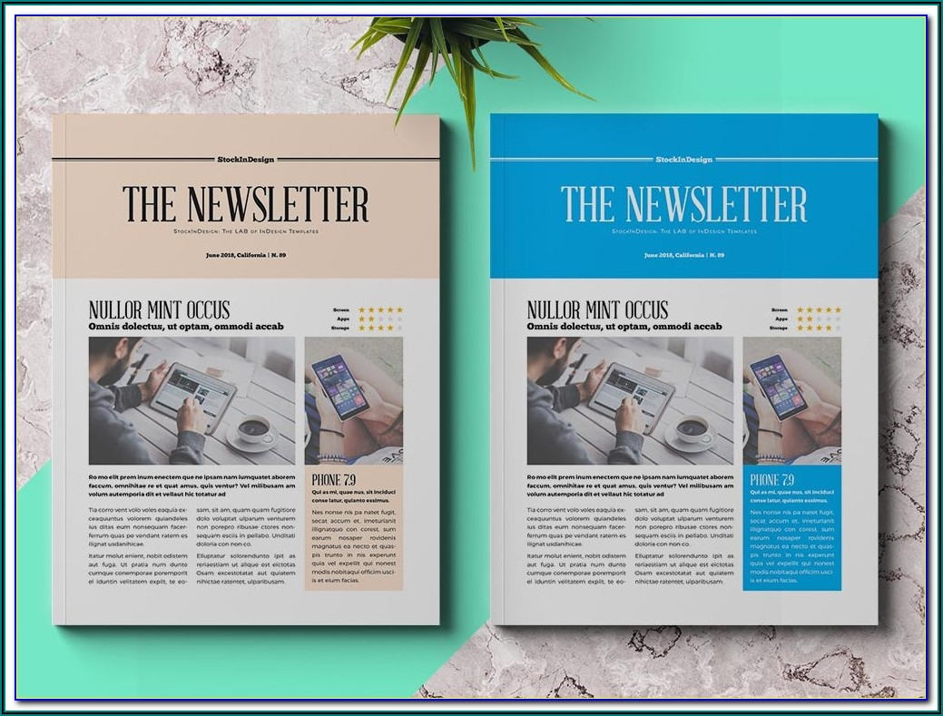 Free Indesign A4 Newsletter Templates