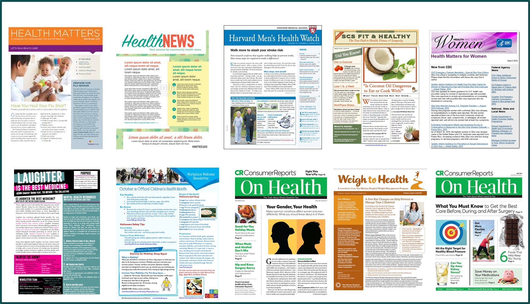 Free Medical Newsletter Templates