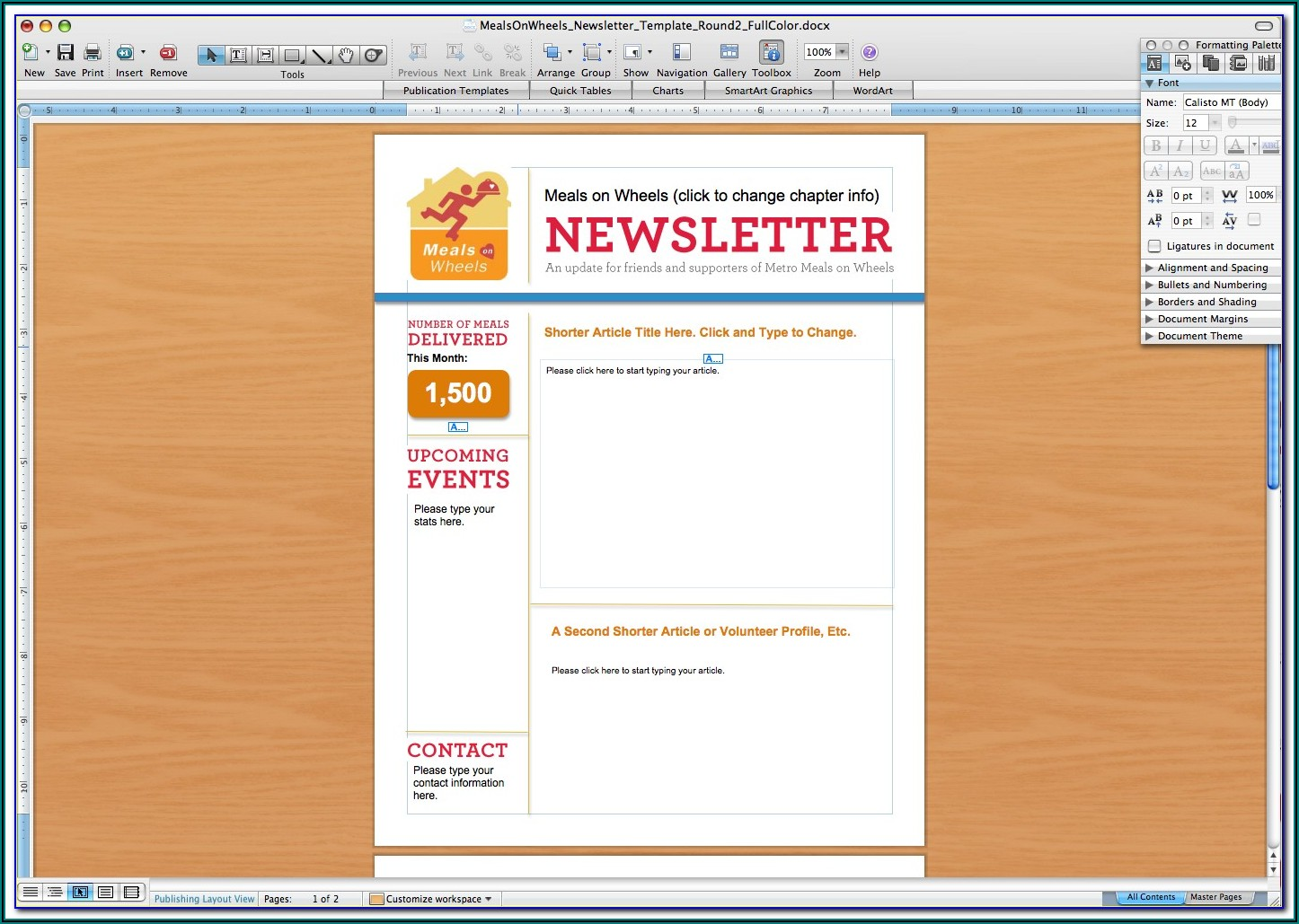 Free Microsoft Publisher Newsletter Templates Download