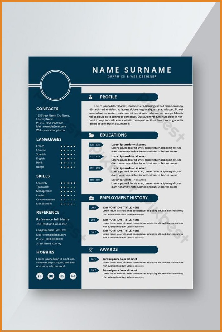 Free Modern Resume Template Word Download
