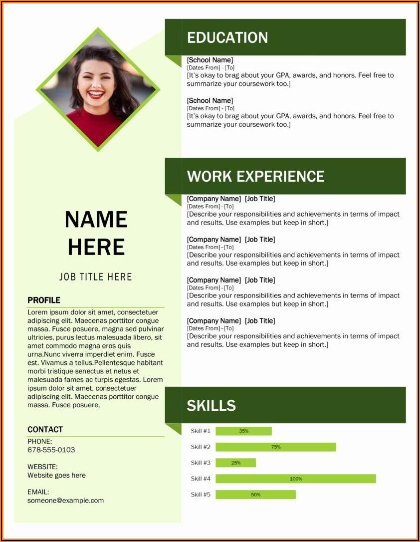 Free Modern Resume Templates Word Download