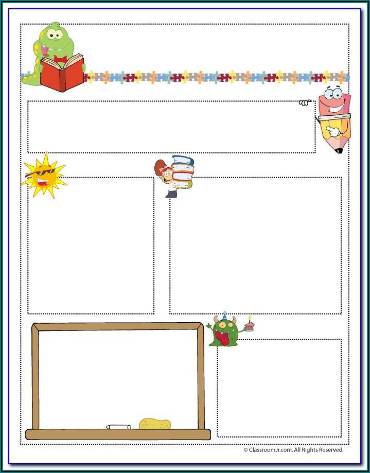 Free Newsletter Templates For Kindergarten Teachers