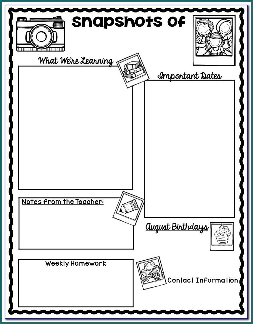 Free Newsletter Templates For Preschool Teachers