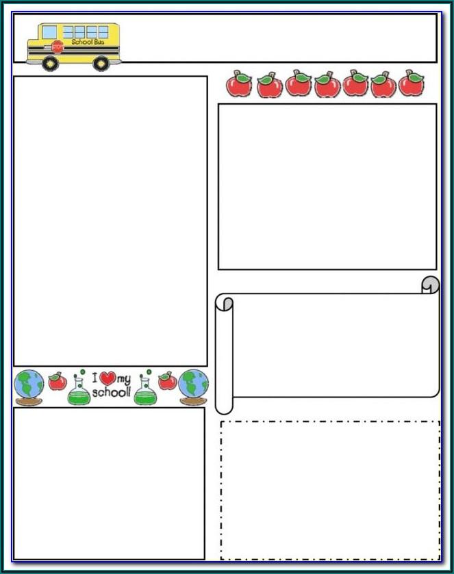 Free Preschool Newsletter Templates For Word