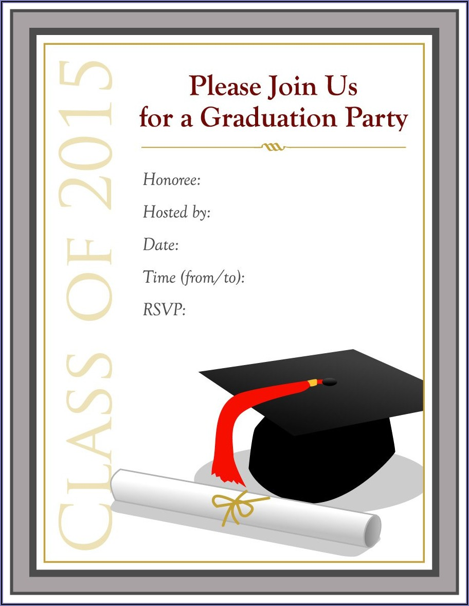 Free Printable Graduation Announcements 2020