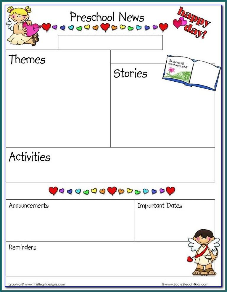 Free Printable Newsletter Templates For Preschool