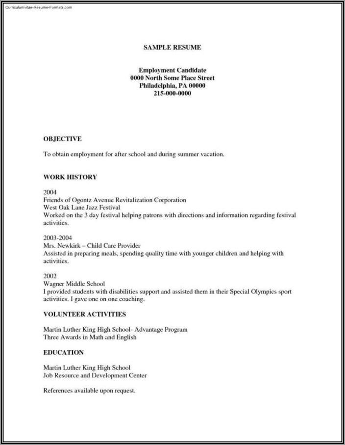 Free Printable Resume Creator