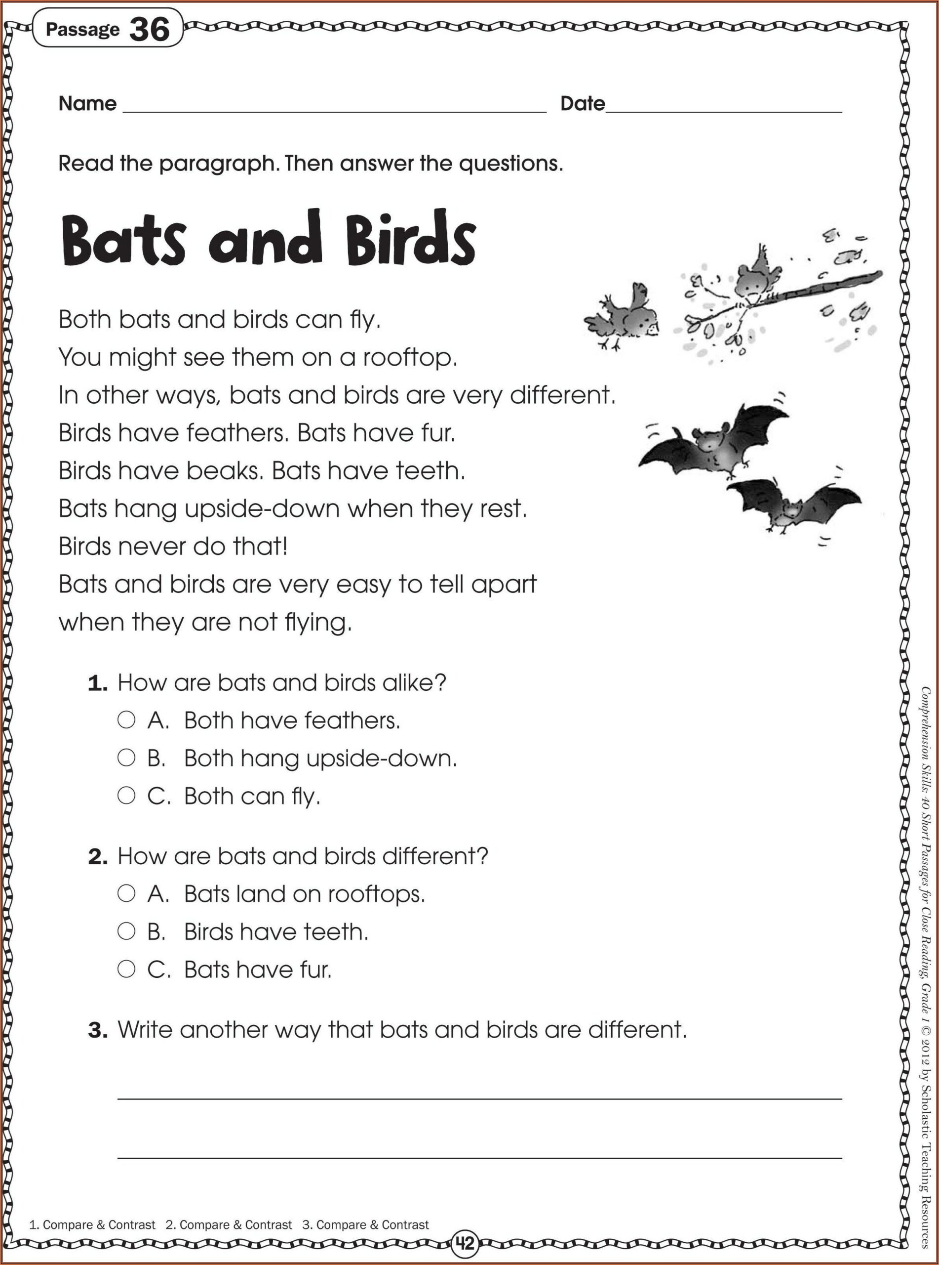 Free Printable Worksheets For 2nd Grade