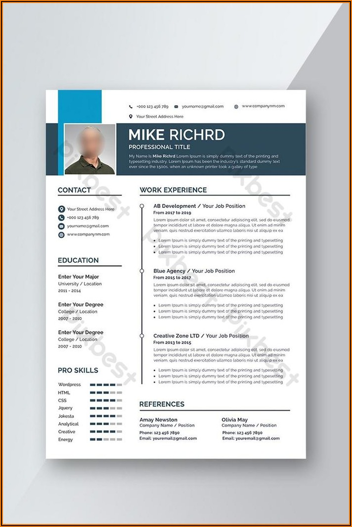 Free Professional Cv Template Word Download
