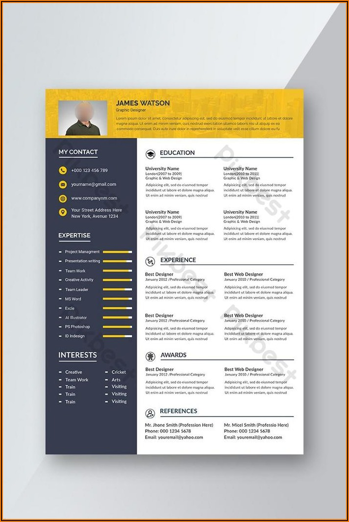 Free Professional Resume Template Download Word