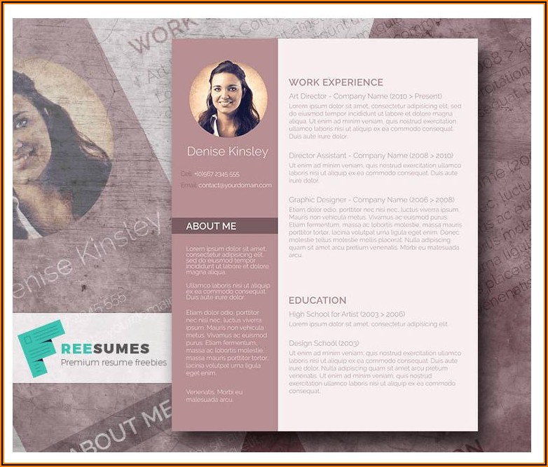 Free Resume Template With Photo Insert Word