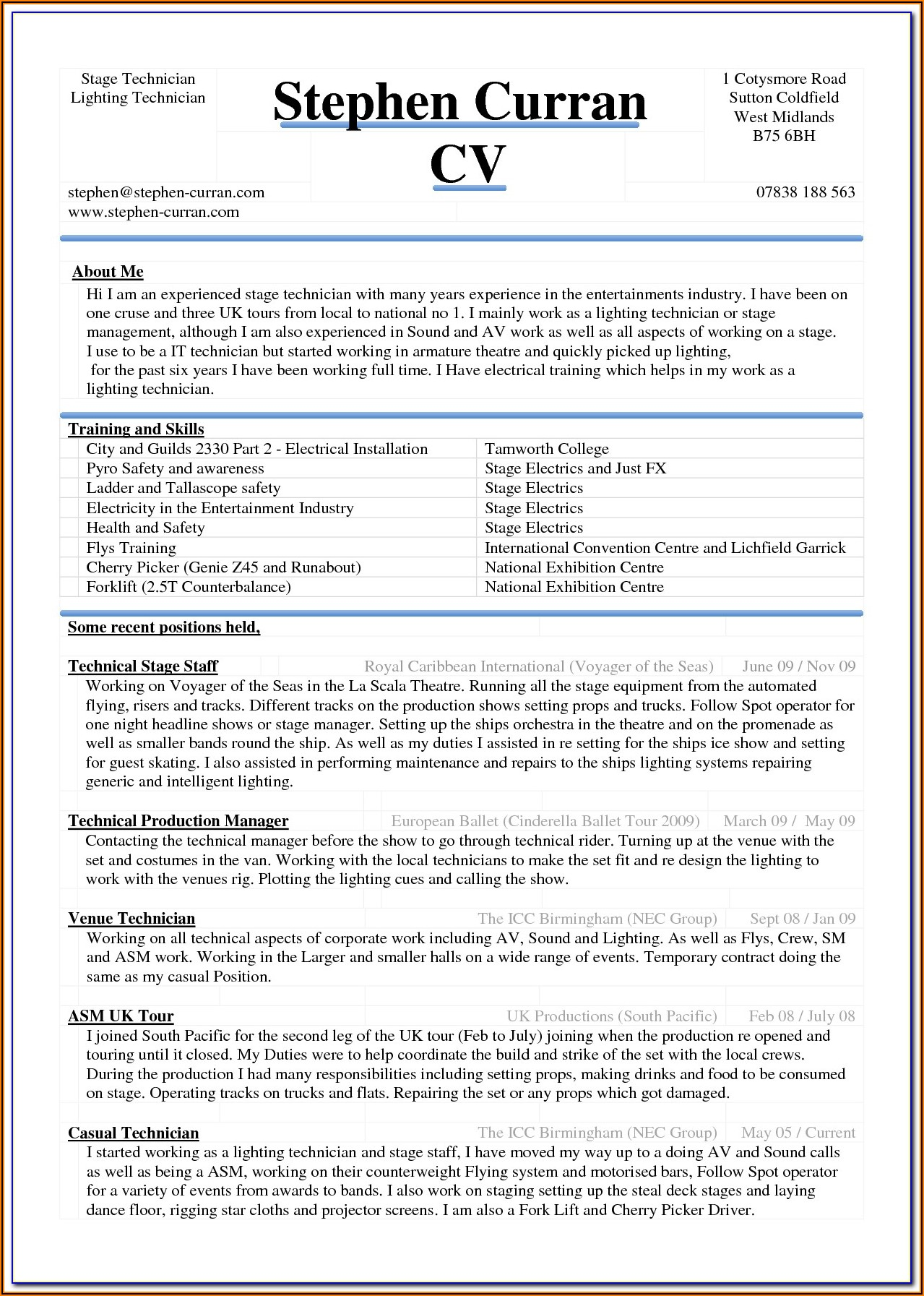 Free Resume Template Word Document