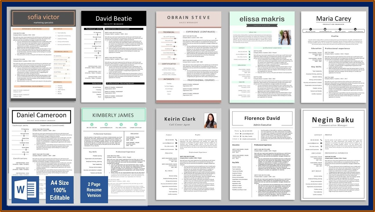 Free Resume Templates Word Download 2020