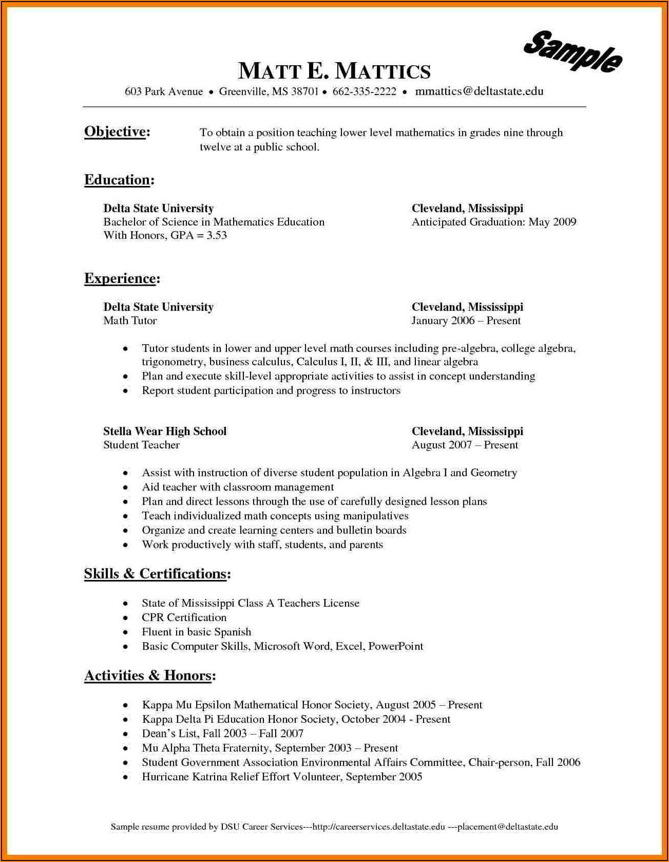 Free Resume Templates Wordpad