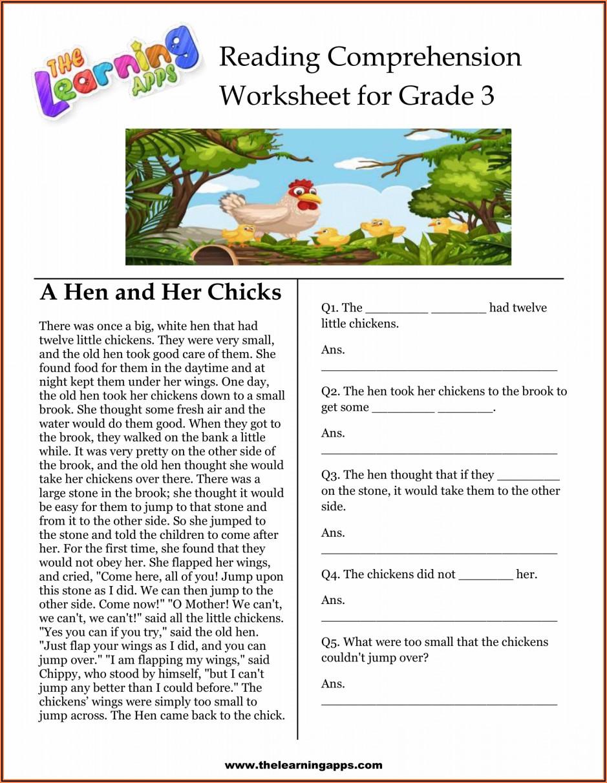 Free Worksheets For 2nd Grade Reading Comprehension