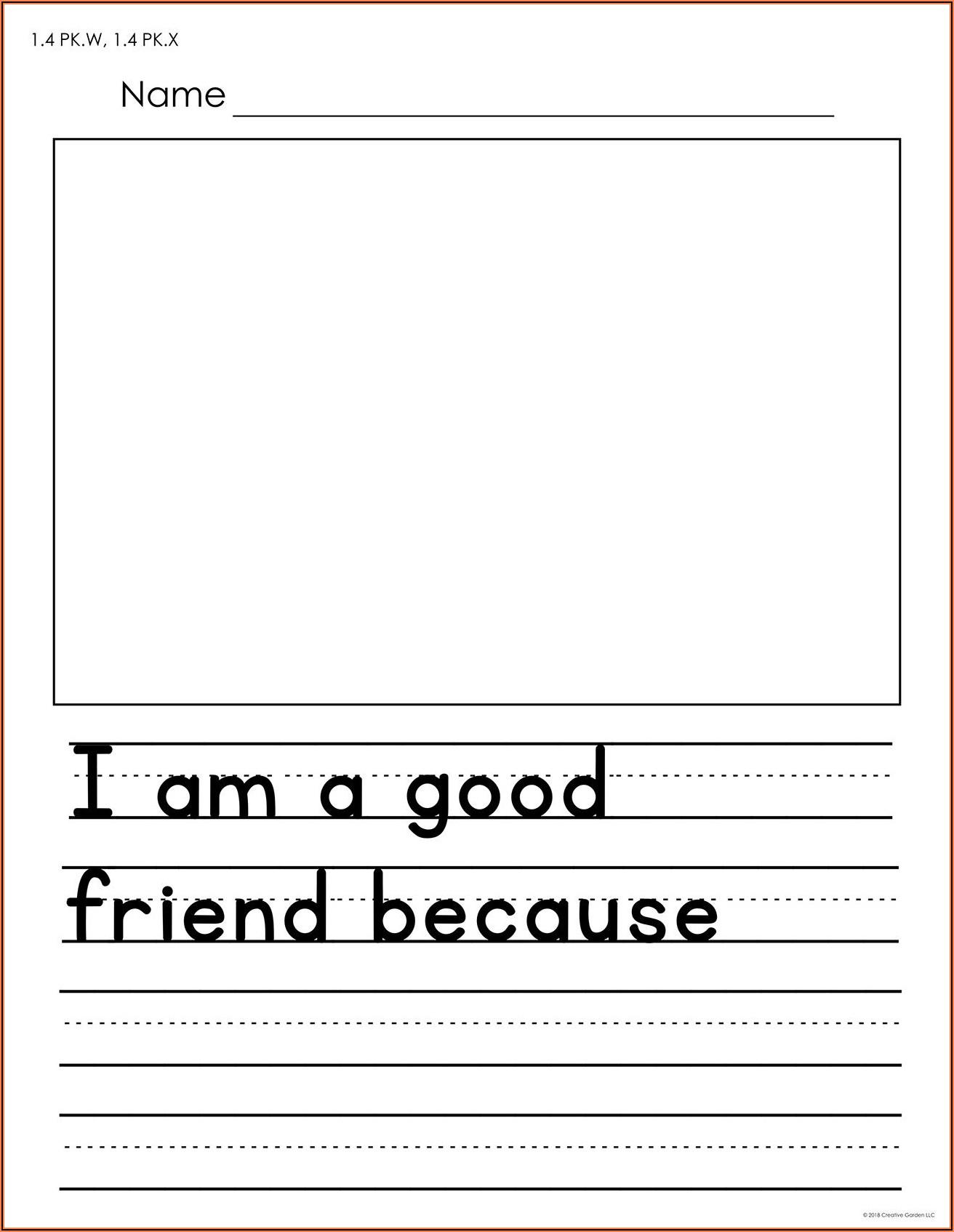 Free Worksheets For Kindergarten Writing