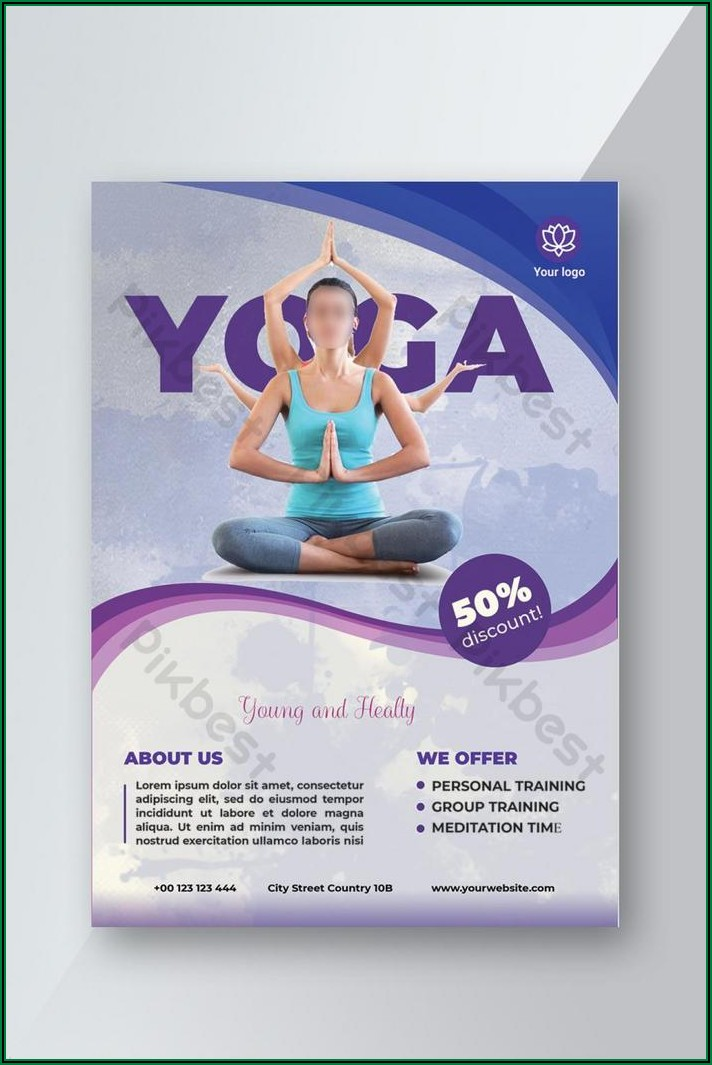 Free Yoga Flyer Template Download