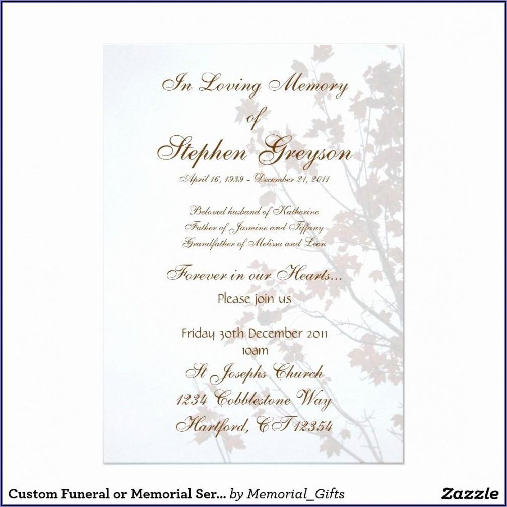 Funeral Service Notice Template