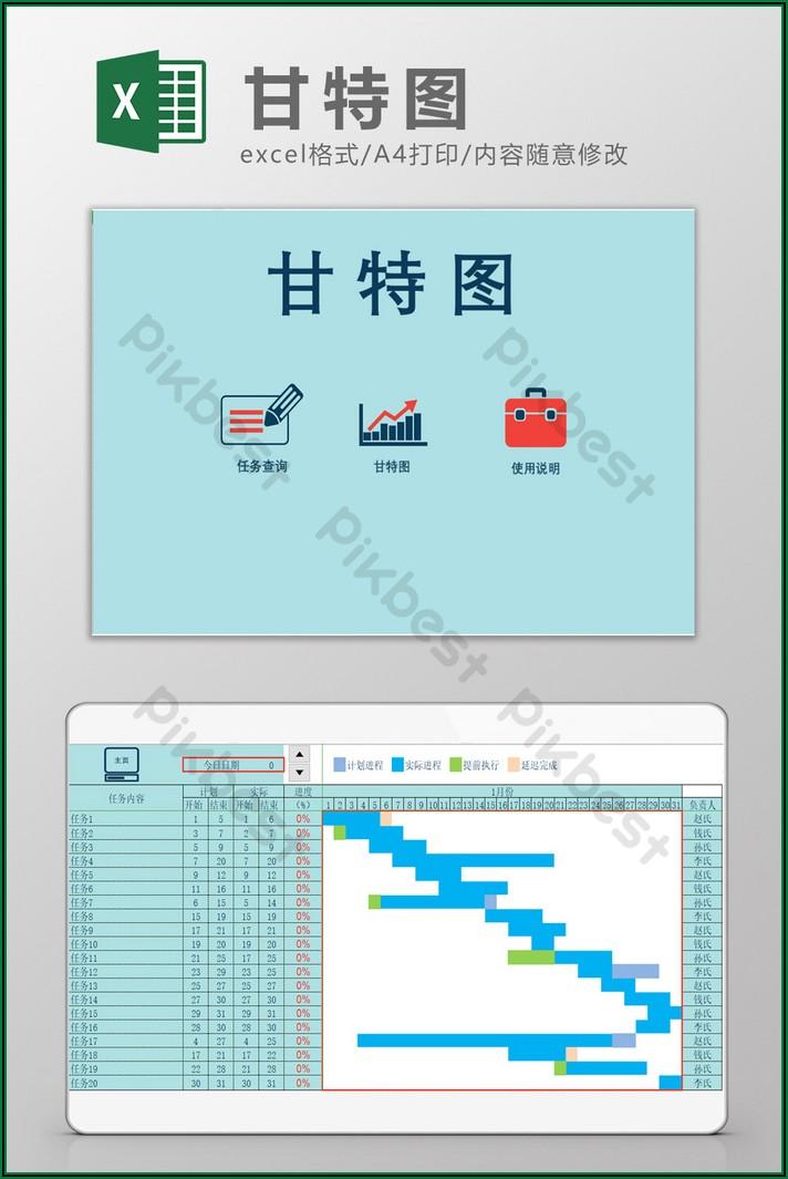 Gantt Chart Template Xls Free Download