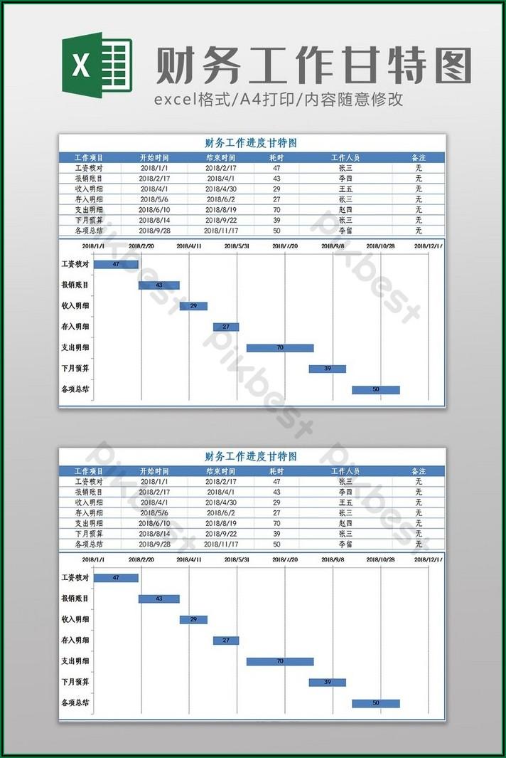 Gantt Chart Template Xlsx