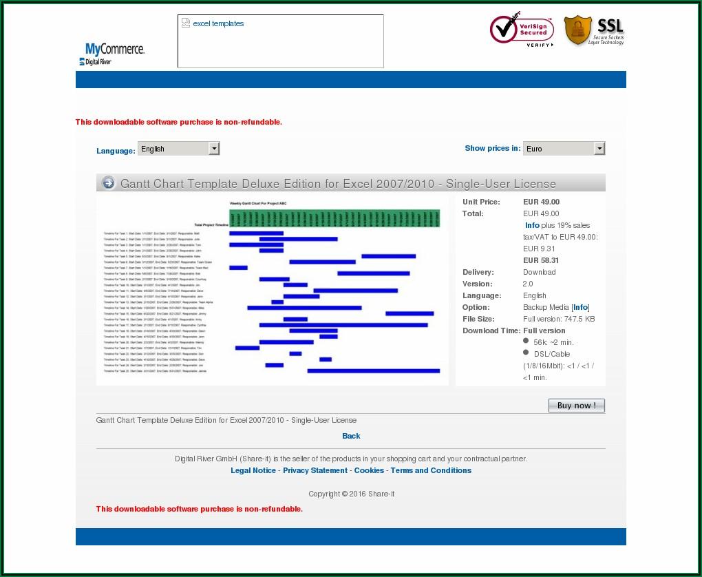 Gantt Chart Templates Excel Download
