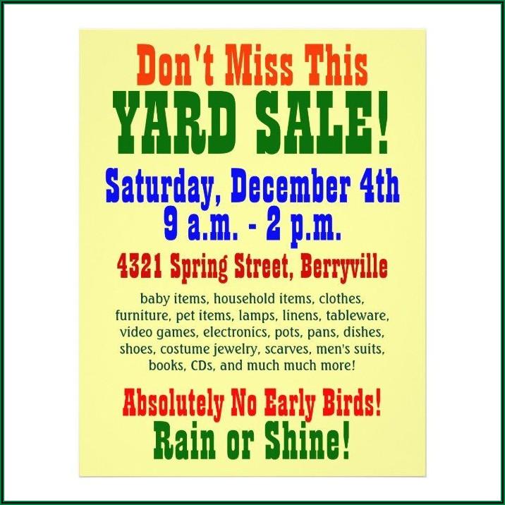 Garage Sale Flyer Ideas