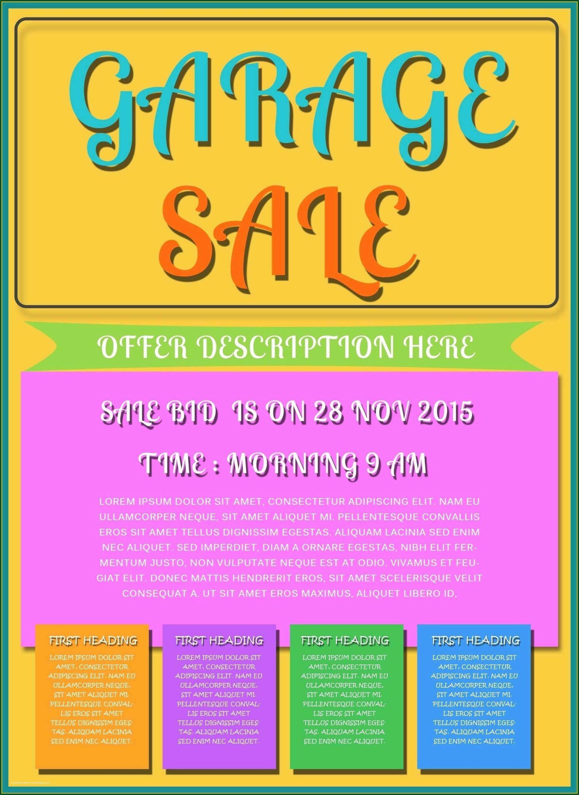 Garage Sale Flyer Sample