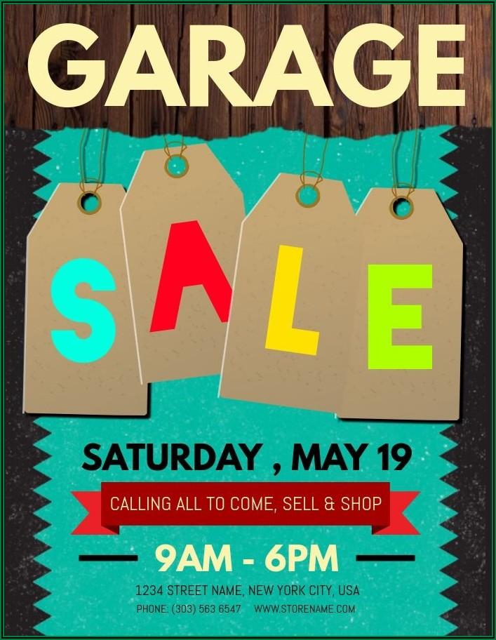 Garage Sale Flyers Examples