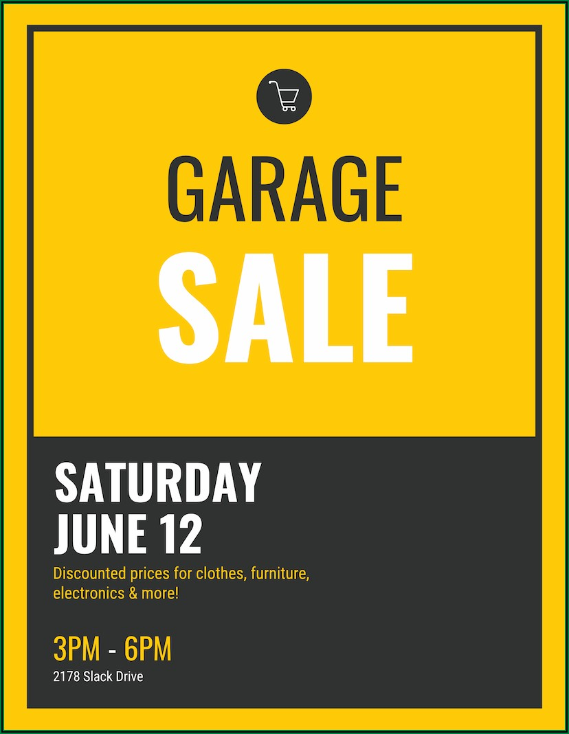 Garage Sale Poster Template
